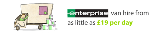 Enterprise van hire from as little as £19 per day