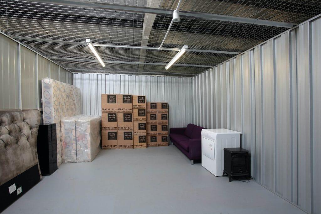 inside large storage unit