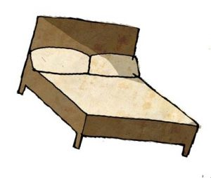 Bed cartoon icon