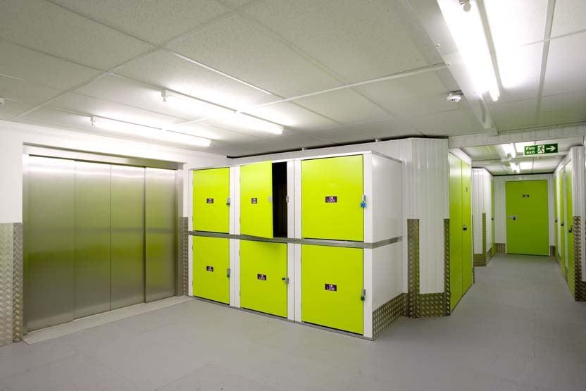 Interior of Ready Steady Store storage lockers.