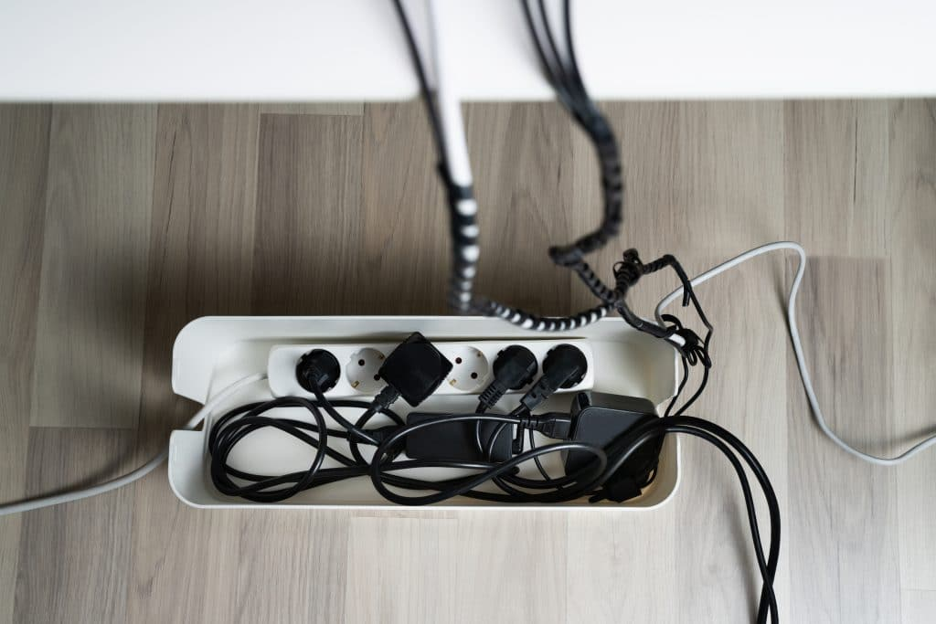 cable management box in home
